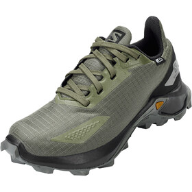 Salomon Alphacross Blast CSWP Shoes Kids olive night/black/castor gray
